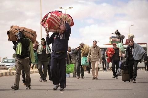 Fuite des egyptiens de libye