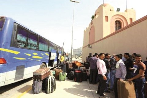 Marocains coinces en libye