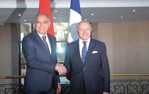 Mezouar et fabius maroc france mars 2015