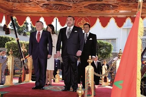Roi de jordanie recu par roi du maroc