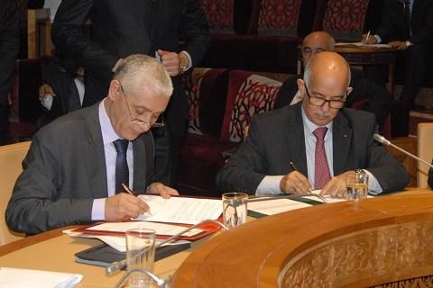 Les deux presidents des chambres du parlement maroc mars 2015