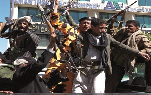 Miliciens houthis yemen 2015
