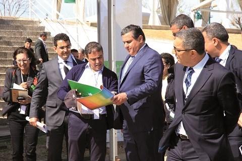 Ministre de l agriculture akhannouch sur chantier siam 2015