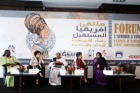 Adjaratou Fatou Ndiaye Fatima Sadiqi Assaitou Mbodj Sophie Bessis Mariem Baba Ahmed panel Forum Ph MAP