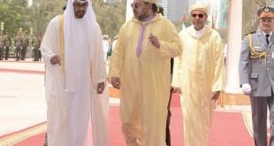 Le Roi du Maroc aux Arabies, ensuite aux Emirats