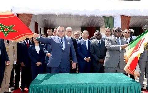 Roi du maroc et president du senegal mai 2015