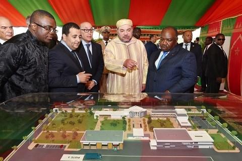 Roi du maroc et president gabonais juin 2015