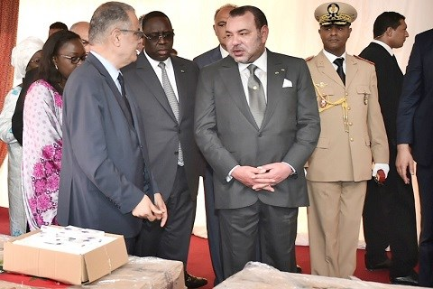 Roi du maroc et president senegal