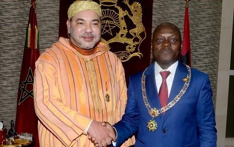Roi du maroc president de guinee bissau