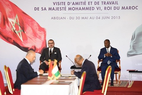 Signature accords maroco ivoirien juin 2015