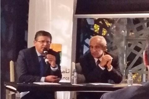 A.Harraj PDG de Wafa Assurance et A.Tamim lors de la conference