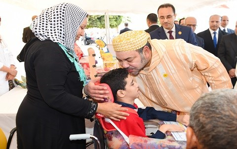 Roi mohammedVI inaugure projet pour enfants handicapes