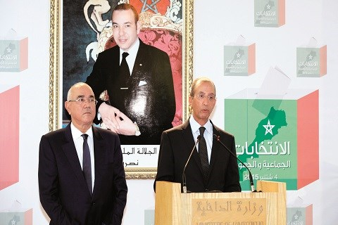 Hassad conference de presse elections maroc septembre 2015