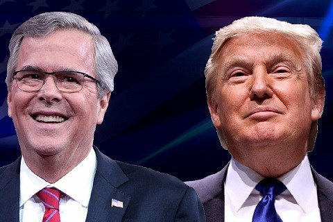 Jeb Bush et Donald Trump