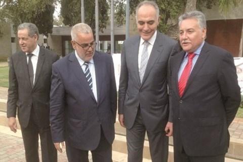 Les quatre leaders de la majorite maroc 2015