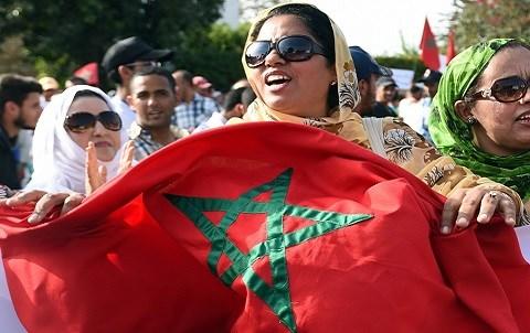 Sit in maroc devant ambassade de suede
