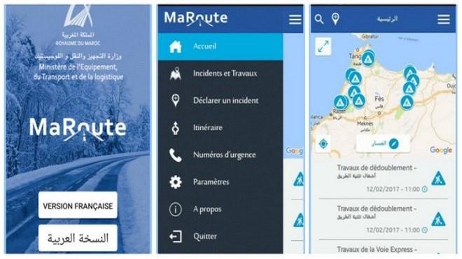 Application mobile : S'informer sur son trajet au Maroc avec «MaRoute»
