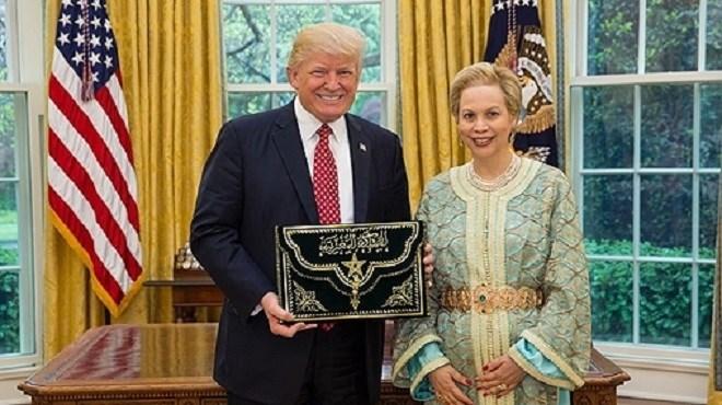 Chrifa Lalla Joumala reçue à la Maison Blanche