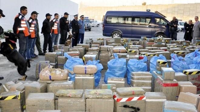 Trafic international de drogue : Saisie record à Nador