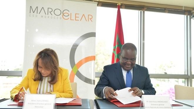 Maroclear : Un accord de coopération avec le DC/BR Côte d'Ivoire