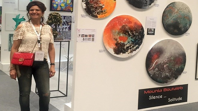 Mounia Boutaleb au World Art Dubaï