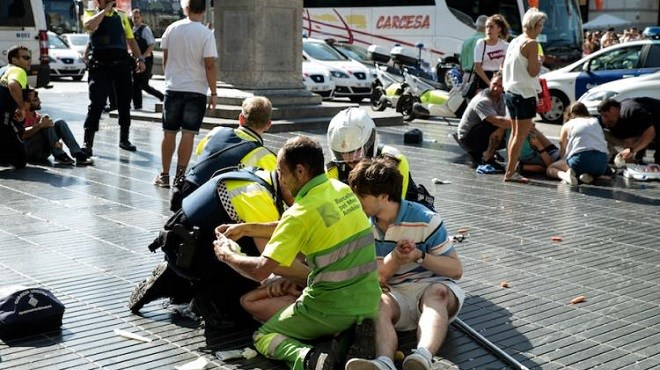 Grande marche contre le terrorisme — Barcelone