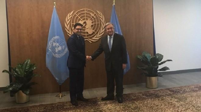 Maroc-ONU : N. Bourita et A. Guterres s'entretiennent en tête-à-tête