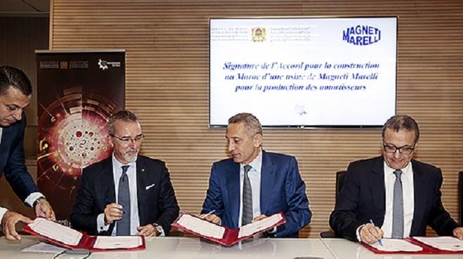 Maroc : L'équipementier italien Magneti Marelli lance son usine au Maroc