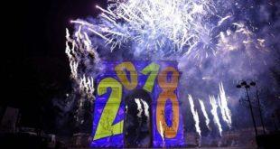 La magie du nouvel an 2018 à travers le monde en photos