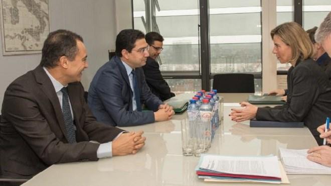 Maroc-UE : Nasser Bourita rencontre Federica Mogherini à Bruxelles
