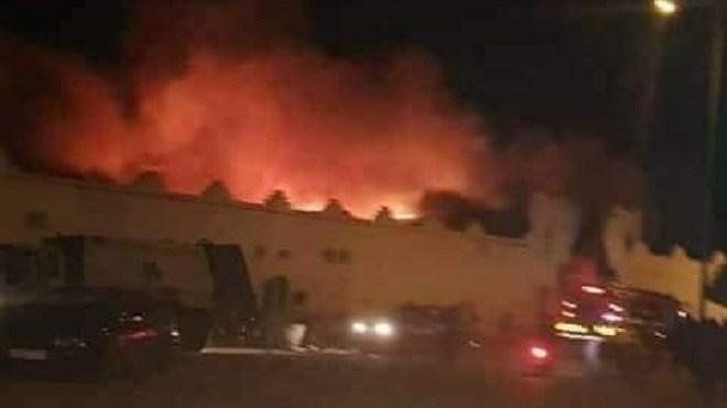 Inezgane : Incendie dans un marché pas de victimes