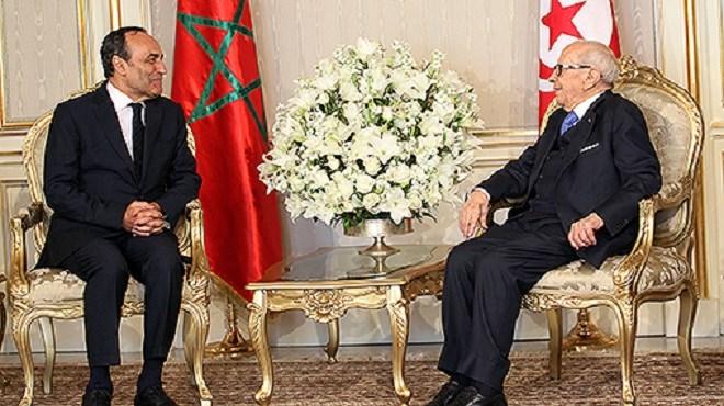 Maroc-Tunisie : Béji Caïd Essebsi reçoit Habib El Malki