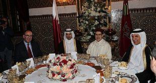 Le Roi Mohammed VI offre un dîner en l'honneur du Premier ministre et ministre de l'Intérieur du Qatar