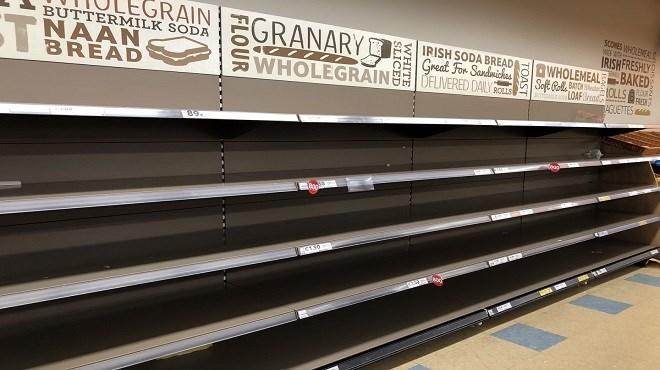 Irlande : les supermarchés dévalisés (Photo)