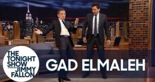 Gad ElMaleh apprend à Jimmy Fallon une danse à la marocaine