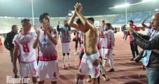 WAC-Hassania d'Agadir : les joueurs du Wydad fêtent leur victoire avec leurs supporters