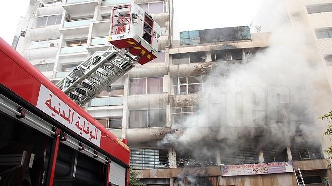Casablanca : Grand incendie dans un immeuble du centre-ville