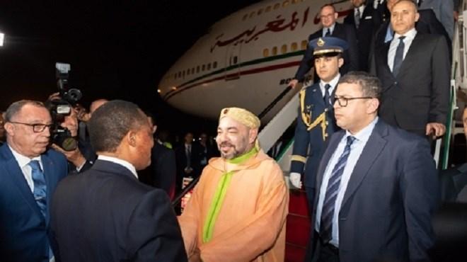 Le Roi Mohammed VI quitte Brazzaville