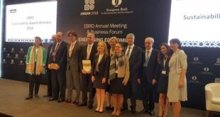 «EBRD Sustainability awards 2018» : Un projet marocain primé à Amman