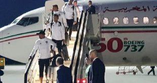 Arrivée de l'équipe nationale marocaine en Russie