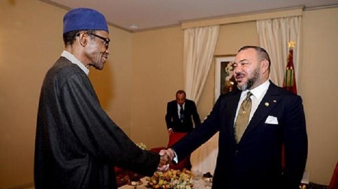 SM Mohammed VI s'entretient en tête-à-tête avec le président nigérian