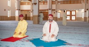"""Le Roi Mohammed VI inaugure à Tanger la Mosquée """"SA la Princesse Lalla Abla"""""""