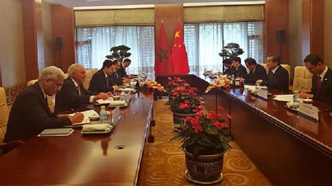 N. Bourita s'entretient avec le Chef de la diplomatie chinoise sur la mise œuvre du partenariat stratégique bilatéral