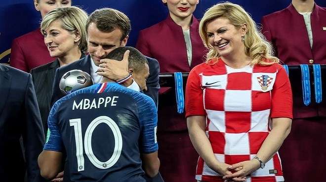 Emmanuel Macron et Kolinda Grabar-Kitarović enflamment la toile (Photos)