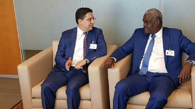 Nasser Bourita s'entretient à New York avec Moussa Faki Mahamat