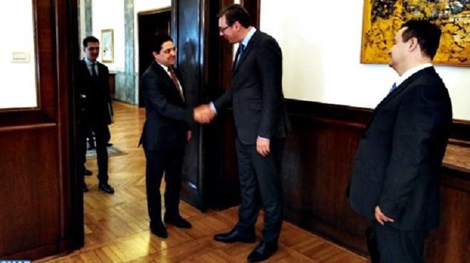 Le chef de l'Etat serbe reçoit en audience Nasser Bourita