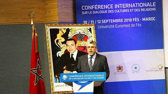 Fès : message royal aux participants à la conférence sur le dialogue des cultures et des religions