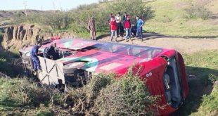 Safi : Trois morts et 37 blessés suite au renversement d'un véhicule de transport mixte