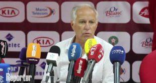 WAC-Safi : Déclaration d'après match de l'entraineur du Wydad