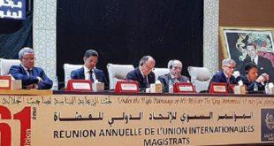 Marrakech : Ouverture des travaux du 61è Congrès de l'Union internationale des magistrats